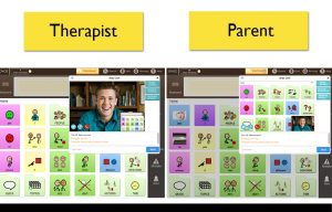 Remote therapy session using Avaz Live