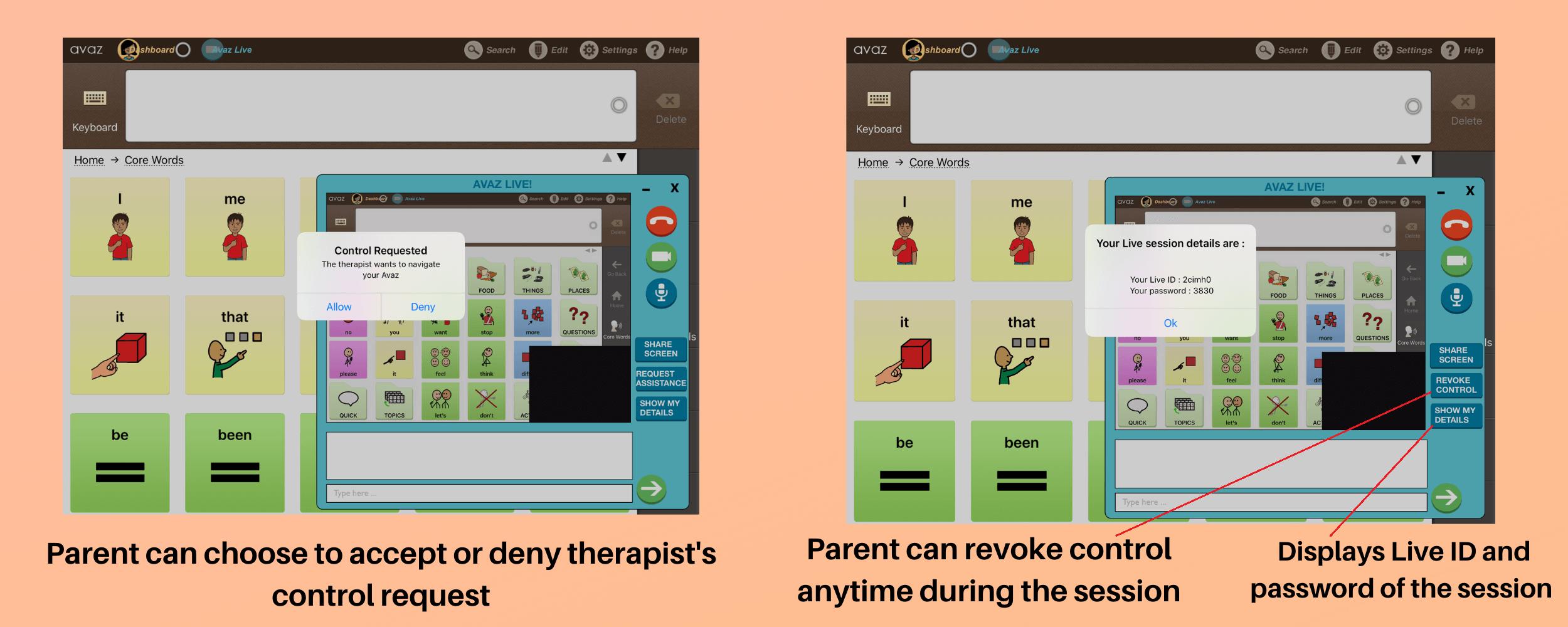 Avaz Live remote speech therapy