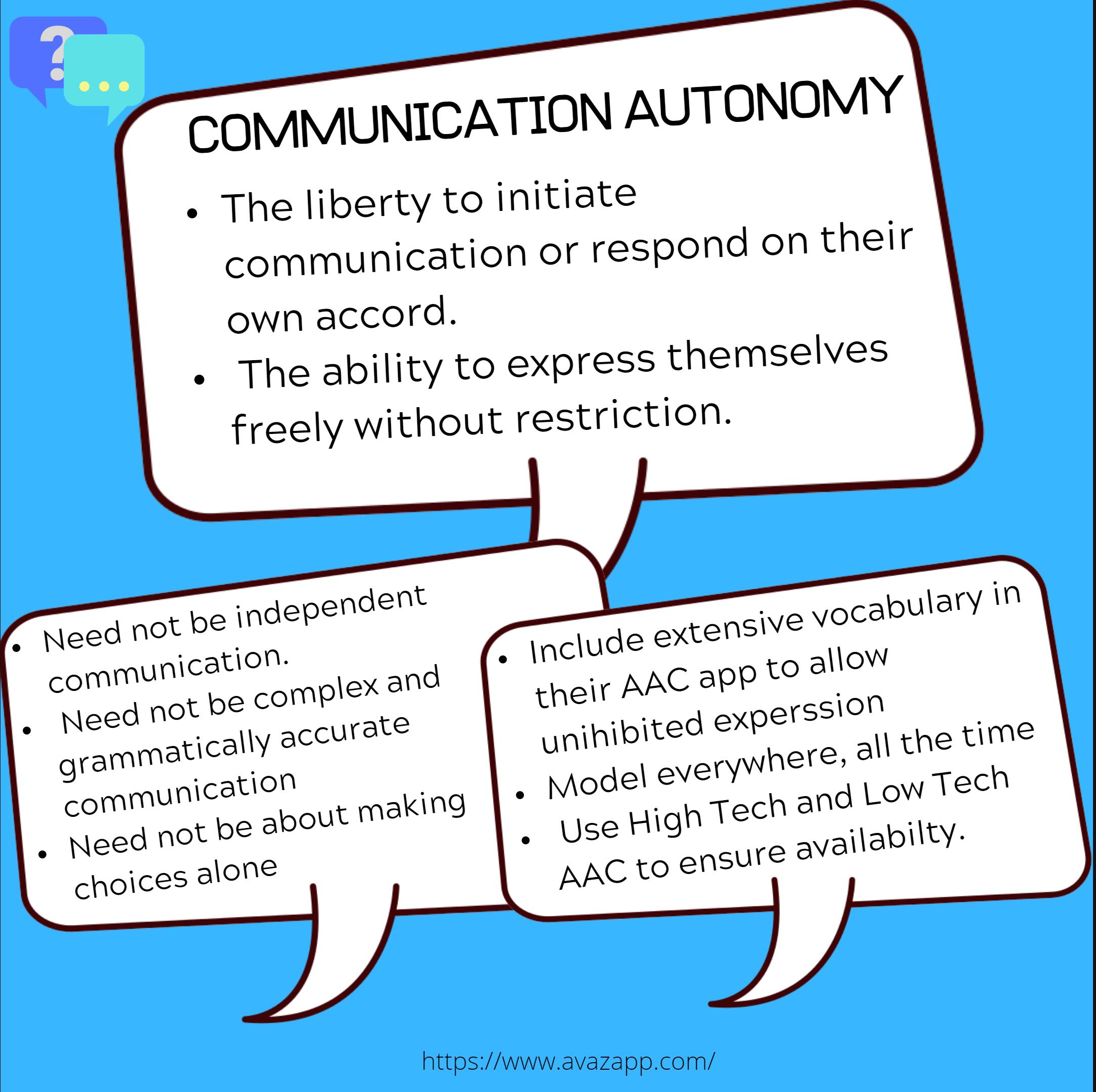 Autonomous communication