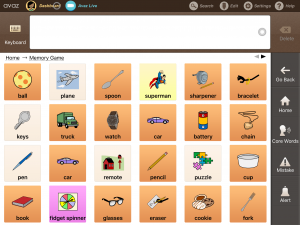 Memory GAme with AAC