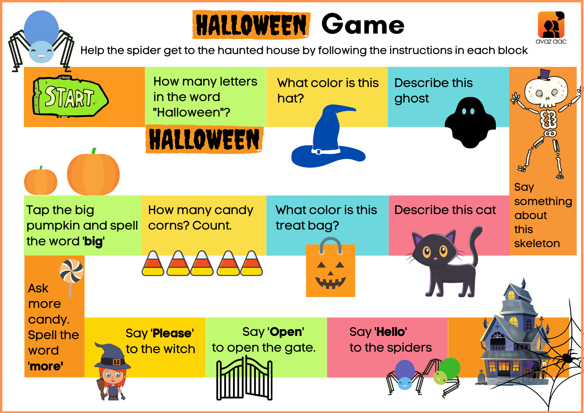 Halloween AAC Board Game